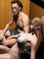 Cool 3d porn comics with hot blonde lady waiting for a hard dick